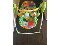 Baby musical swinging chair