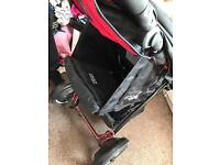 O baby double pushchair