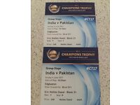 Ind v Pak ICC Champions Trophy 2 x silver tickets (Eric Hollies stand)