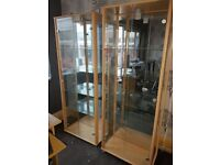 Glass Mirrored Cabinets x2