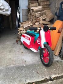 Kids wooden balance bike