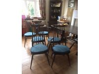 Six 1970s Ercol Dining Chairs