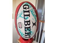 Harlequins Rugby Squad Signed Ball 08/09 Season