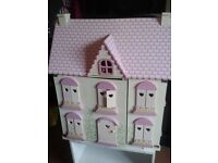 Large dolls house and accessories