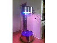 Large Stainless Steel Acrylic Column Cylinder Aquarium vivarium Tank for sale,