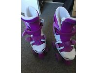 Girls no fear extendable roller skates size 10-13