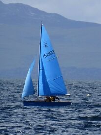 Plywood Enterprise dinghy - fantastic condition, ready to sail, with combi launch/road trailer