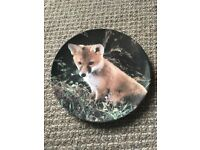 Royal doulton 'ready to pounce' out little woodland friends plate