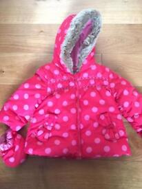 Marks & Spencer baby girl winter coat 6-9 months