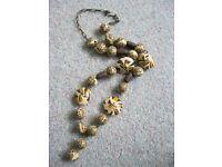 "16"" leopard print necklace (brand new)"