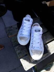 Genuine white converse size 3