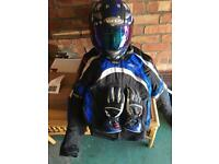 Motorcycle RST jacket , helmet and gloves