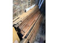 Shiplap and other pieces of wood