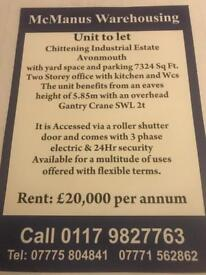 UNIT TO LET 4 months rent free subject to t&c