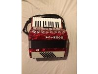 Hohnica 48 Bass Accordion including case