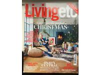 LIVING ETC MAGAZINES. 12 ISSUES. JAN - DEC 2016.