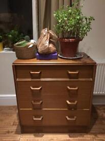 Vintage G-plan teak mid-century chest of drawers