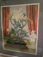 Oriental - Lithograph Framed Print - Made in U.S.A. - Vintage