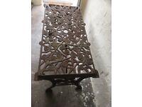 Unique rose effect cast iron garden table