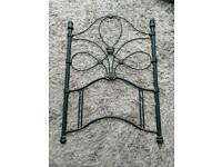 Wrought iron single bed headboard / bed post RRP: £110