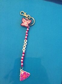 Personalised bag charms/ key rings