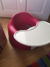 Bumbo combo floor seat and play tray in perfect condition