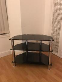 Glass TV stand 3 tiers almost new