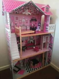 Kidkraft dollhouse and kitchen