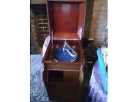 Geisha Gilbert gramophone, records and needles FULL WORKING ORDER