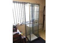 Large lockable display cabinet