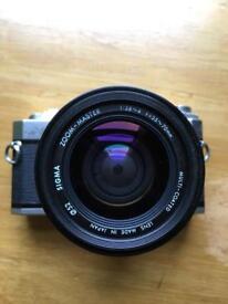 Minolta camera + lens 55 f1.7