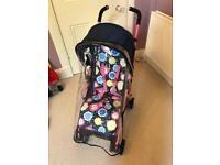 Mothercare lightweight Nanu Flowers buggy stroller foldaway Brand new