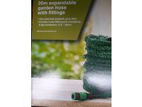 Garden hose expandable