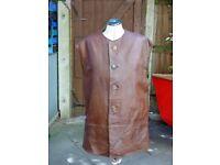 Vintage genuine British Army WW2 leather jerkin, 1940