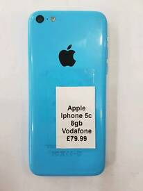 Vodafone,Lebara,Talk Talk Apple iPhone 5c 8gb-16gb All Colours Available With All Accessories