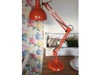 Retro orange lamp