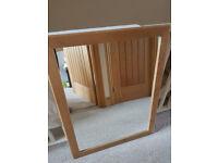 Oak colourwooden framed mirror