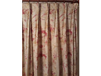 LAURA ASHLEY CURTAINS – fully lined & with double pleat header (PAIR 1)