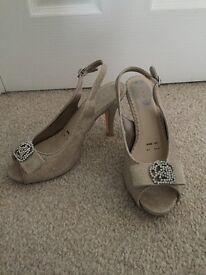 Debenhams debut nude sparkly heels