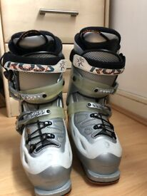 Rossignol Ski Boots Ladies UK Size 3 Size 24.5 285 mm Silver Light Comfort Fit