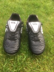 Canterbury Rugby boots size 3 for sale.