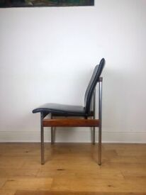 Mid-Century 1960s Tubular Steel and Rosewood Desk Chair by Sven Ivar Dysthe FREE LOCAL DELIVERY