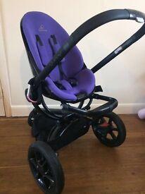 Quinny moodd purple travel system pushchair
