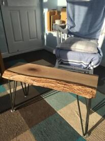 Handmade walnut wood stool / coffee table