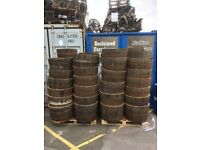 BIG S A L E Oak Barrel Planters Half Barrels Garden Planter Large - Lots Available