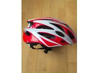Red&white road helmet for sale (size M)