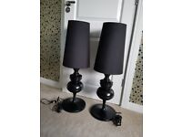 Dwell tapered shade oversized table light/ lamp black