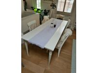Ikea 8-10 seater dining table with chairs