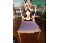 Dining table and 4 chairs - good quality