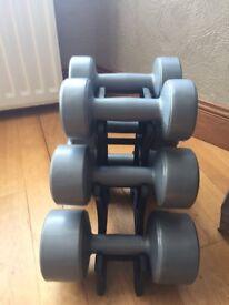 Set of dumbbells